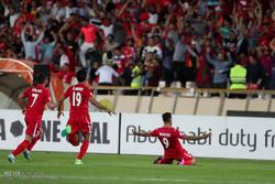 دیدار تیم های پرسپولیس تهران و الوحده امارات