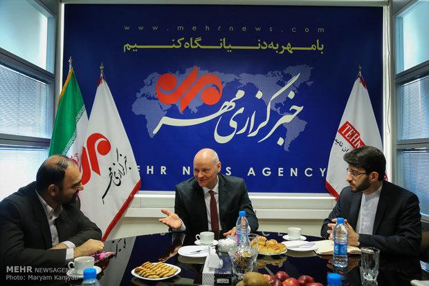 زيارة السفير الألماني في طهران لوكالة مهر للأنباء