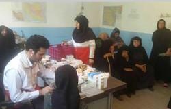 ویزیت و درمان رایگان ۲۳۰ نفر از اهالی روستاهای سیریک