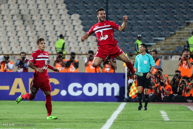 دیدار تیم های فوتبال پرسپولیس تهران و الوحده امارات