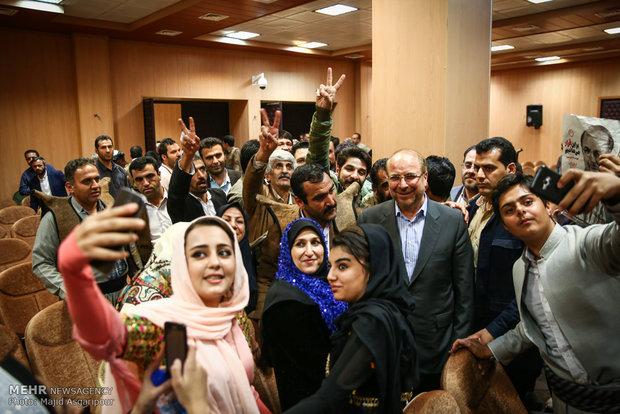 دیدار جمعی از مردم کردستان با محمدباقر قالیباف