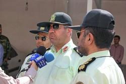 استقرار گشت های ثابت و سیار پلیس در مناطق سیل زده خوزستان