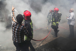 اتصالی برق دلیل آتش سوزی بازار اروند خرمشهر بود