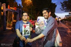 تجمع أنصار المرشح الرئاسي قاليباف في حديقة عامة في طهران /صور