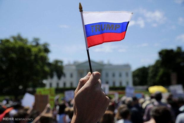 تظاهرت علیه ترامپ مقابل کاخ سفید