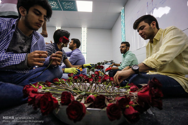 Mid-Sha'ban celebrations on Tehran streets