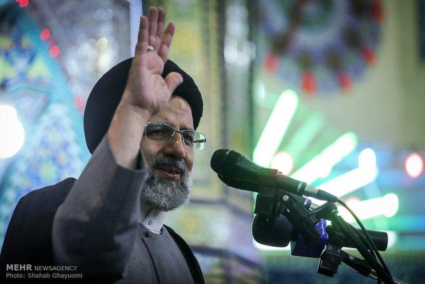 """المرشح الرئاسي ابراهيم رئيسي ضمن حملته الانتخابية في """"ورامين"""""""