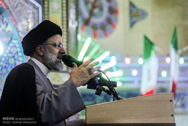 """سفر اقای رئیسی به المرشح الرئاسي ابراهيم رئيسي ضمن حملته الانتخابية في """"ورامين"""" ورامین"""