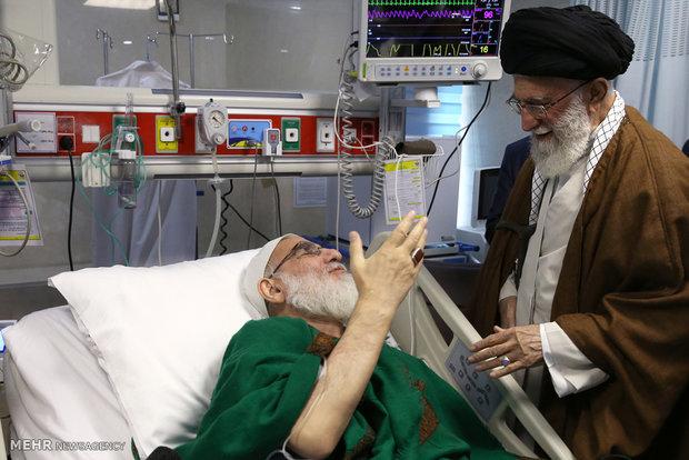 İnkılap Rehberi Ayetullah Şahrudi'yi ziyaret etti