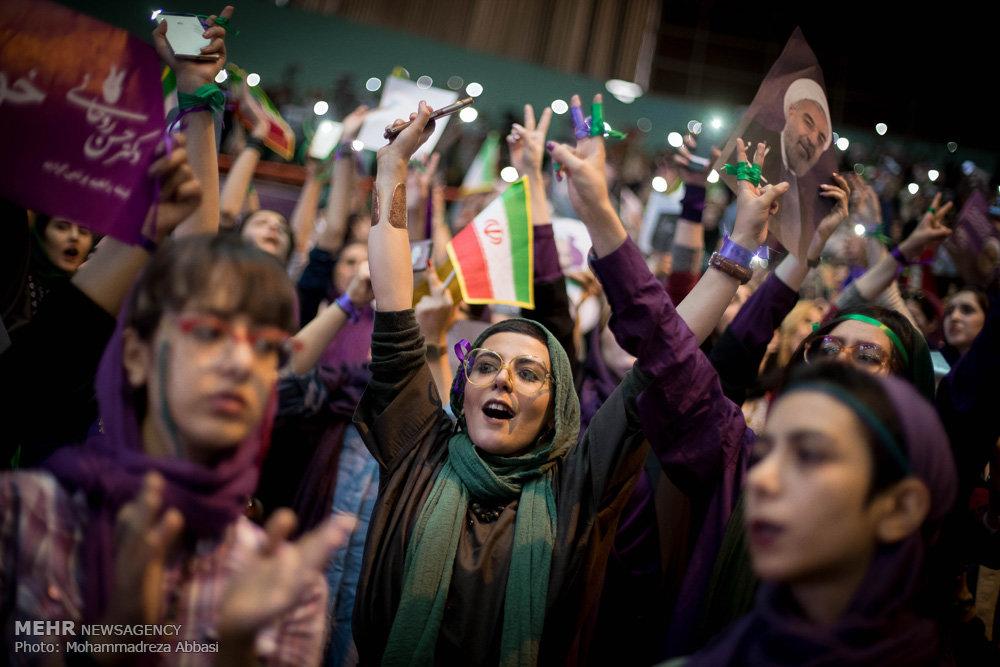 همایش انتخاباتی حسن روحانی