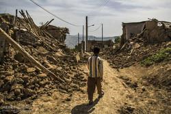 İran'daki deprem bölgesinden kareler