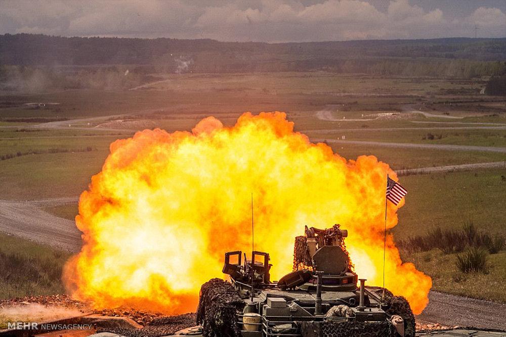 رزمایش تانک های ناتو در آلمان