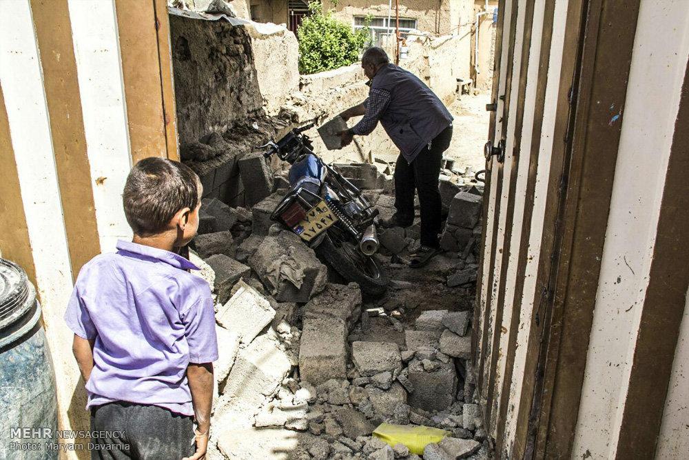 شرایط سخت مردم روستاهای زلزله زده بجنورد  - ۲