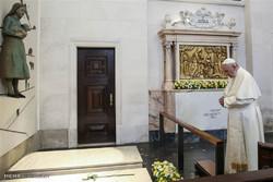 پوپ نے فاطیما زیارتگاہ کا دورہ کیا