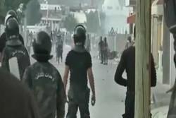 درگیری پلیس و تظاهرات کنندگان در تونس