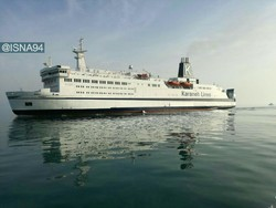 Sunny, a seven-story cruise ship, makes its maiden voyage from Kish to Qeshm, two resort islands in the Persian Gulf, May 14, 2017.