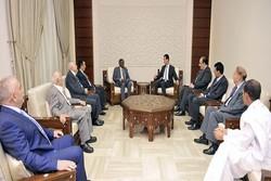 هیأت قطری با بشار اسد دیدار کرد