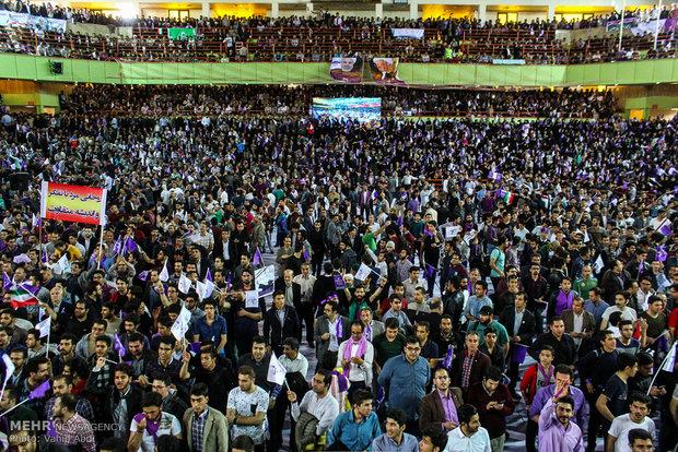 المرشح حسن روحاني يزور مدينة تبريز