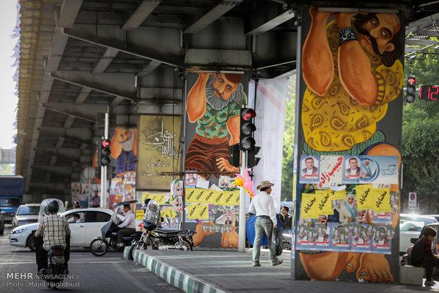Tahran sokakalarında seçim havası