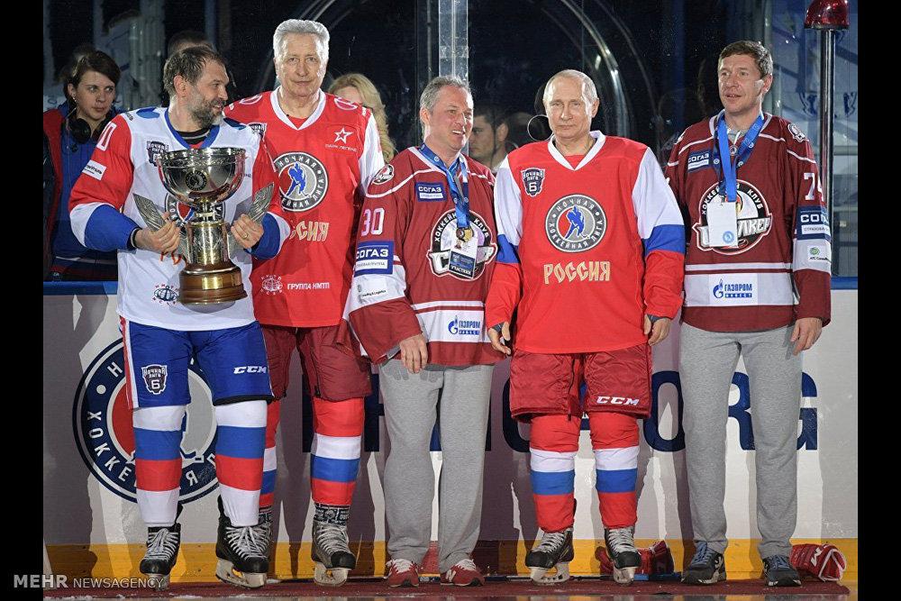 حضور پوتین در رقابت های هاکی