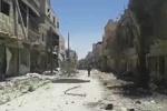 محله القابون در شرق دمشق پس از تسلط ارتش سوریه