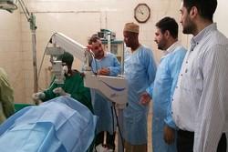 اتاق عمل چشم مرکز سلامت جمعیت هلال احمر افتتاح شد