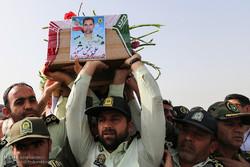 پیکر ۲ شهید نیروی انتظامی در اهواز تشییع شد