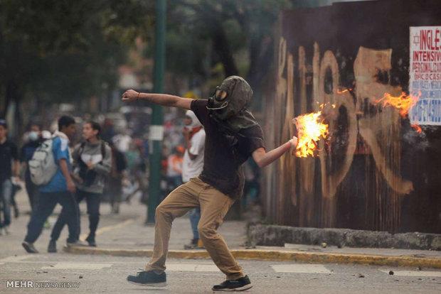 ماسک های مخالفان ونزوئلایی