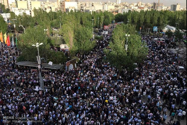 گردهمایی حامیان حجت الاسلام سیدابراهیم رییسی