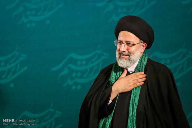 رئیسی در مصلی تهران