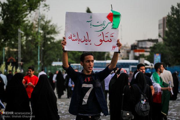 تجمع أنصار المرشح ابراهيم رئيسي في مصلى طهران