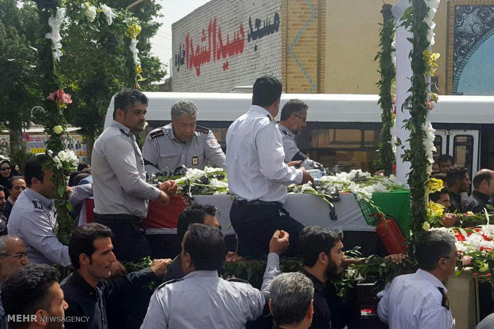 تشییع پیکر داوود نجاتی شهید آتش نشان حادثه ساختمان ثامن الائمه(ع)