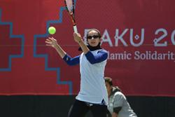 بانوی تنیسور ایران به دور دوم مسابقات صعود کرد
