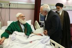 ظريف يزور آية الله هاشمي شاهرودي