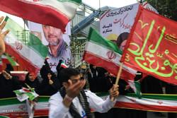 اجتماع انصار ابراهيم رئيسي في شوارع مشهد