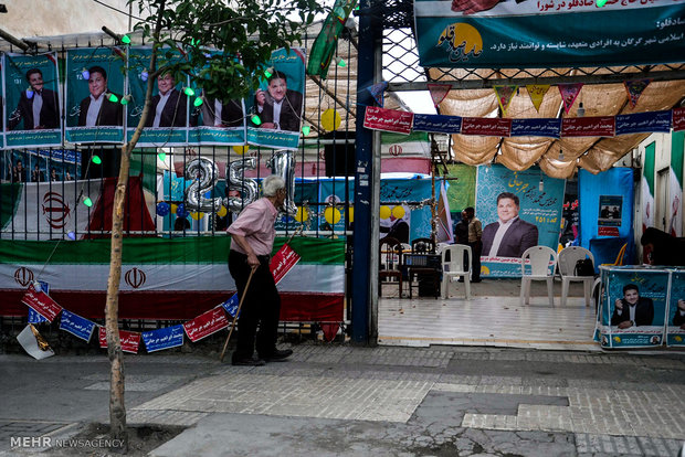 آخرین ساعت های تبلیغات انتخابات ریاست جمهوری در سطح شهر گرگان