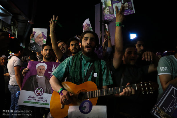 Last hours of election campaigns in Tehran