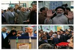 المرشحون الرئاسيون الأربعة أمام صناديق الاقتراع /صور