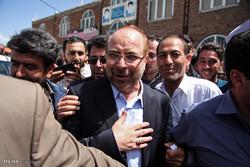 حضور محمد باقر قالیباف در انتخابات