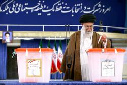 Ayatollah Khamenei cast his vote for Presidential election