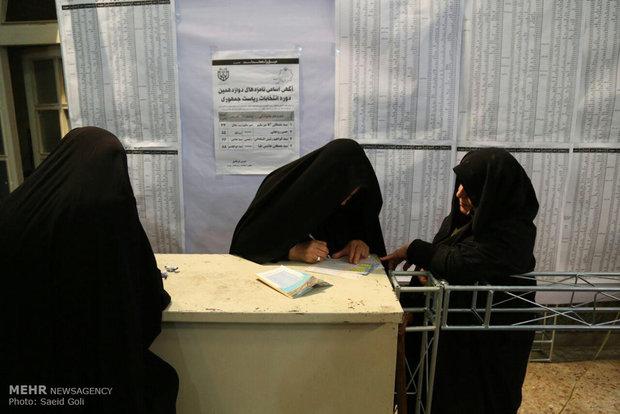 مشاركة الناخبين الايرانيين في الانتخابات الرئاسية والبلدية