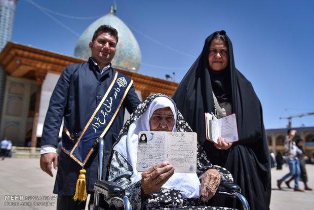 مشاهد من المشاركة في الانتخابات الرئاسية والبلدية في شيراز