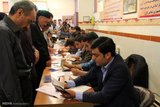 مشاهد من المشاركة في الانتخابات الرئاسية والبلدية في ارومية