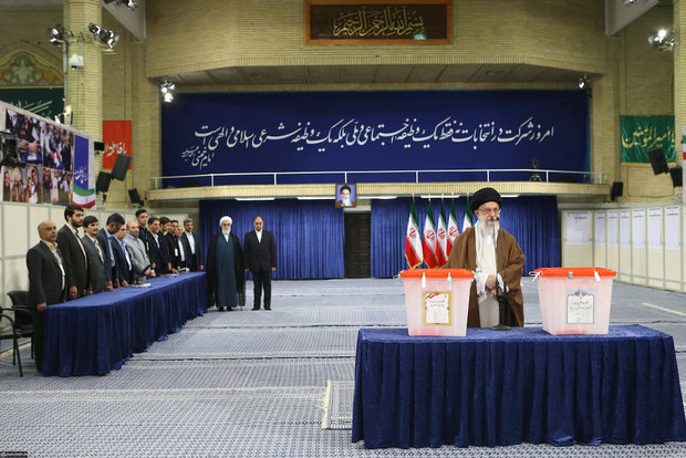 Ayatollah Khamenei cast his vote for Presidential election