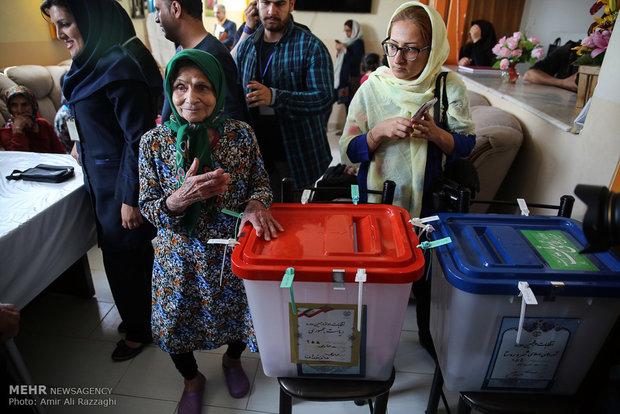 Presidential election across Iran