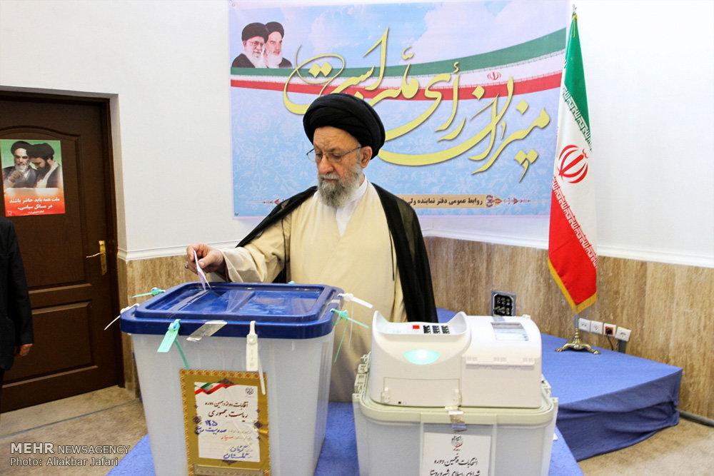 حضور سید کاظم نورمفیدی در انتخابات