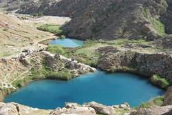 İran'ın İlam eyaletinde ikiz göller
