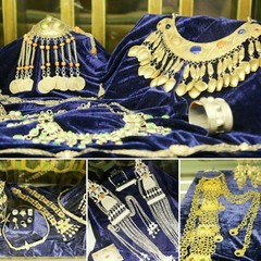 Handmade jewelry crafted by Iranian Turkmen nomads