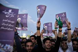 شادی هواداران حسن روحانی در همدان