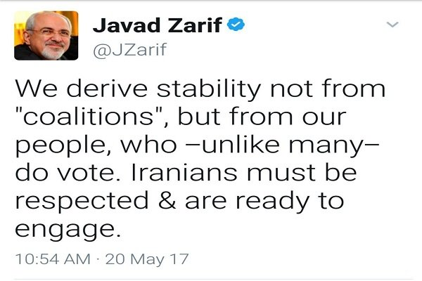 İran'daki istikrarı halkımıza borçluyuz